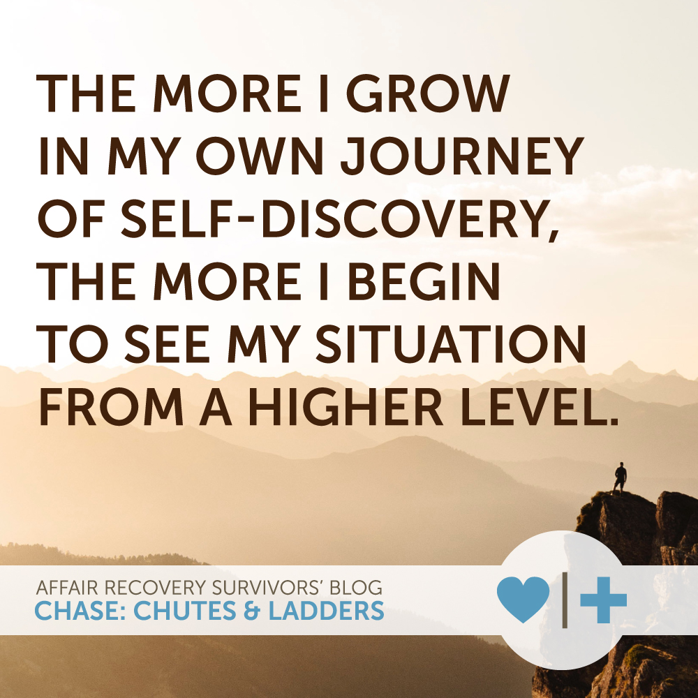 the more i grow in my own journey of self-discovery, the more i begin to see my situation from a higher level. author - chase