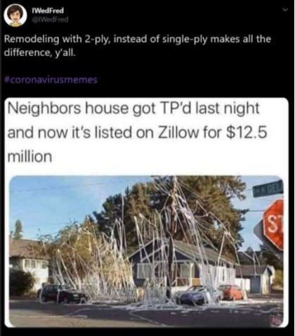 neighbors house got tped and selling for 12.5 mil