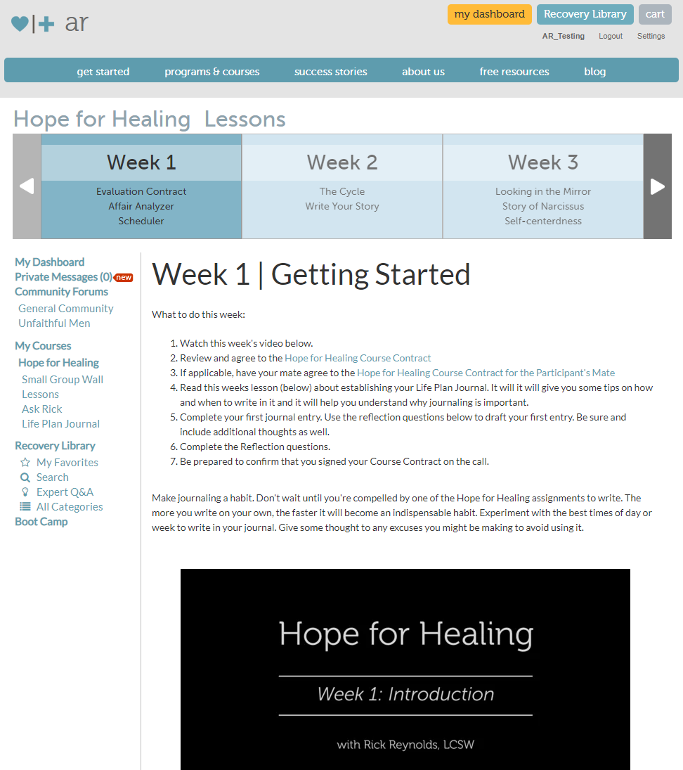 Hope for Healing | Affair Recovery