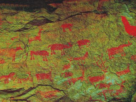 satpura cave paintings, african rock art, trust for african rock art, TARA