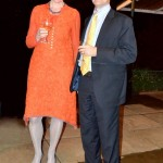 Christa Meindersma, Director of the Prince Claus Fund with with the Canadian High Commissioner David Angell.