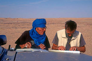 Planning navigation routes through the Sahara Desert, Niger.