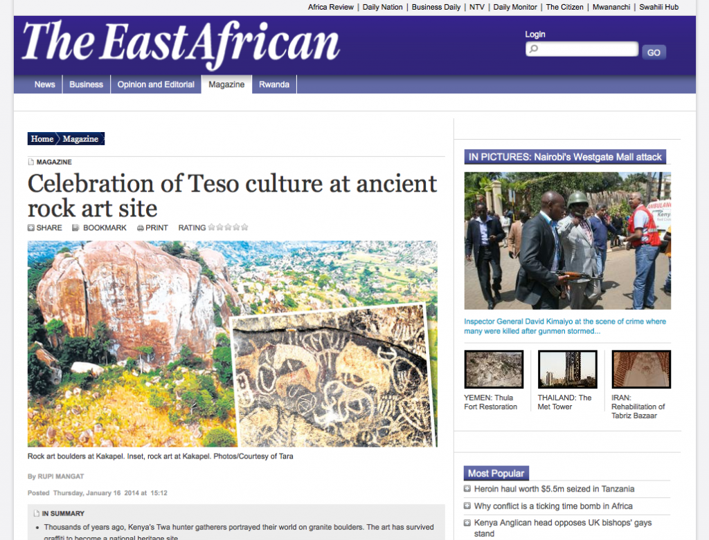 The East African - Rock Art News