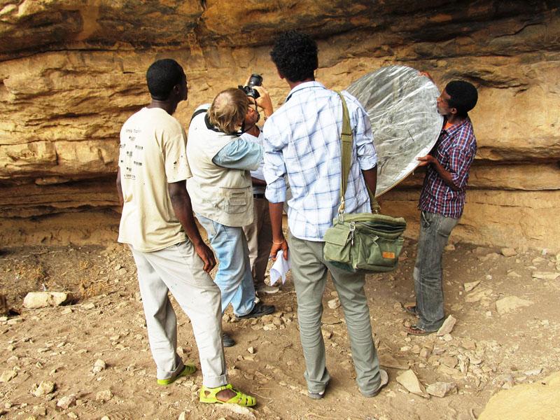 Rock art site in Ethiopia