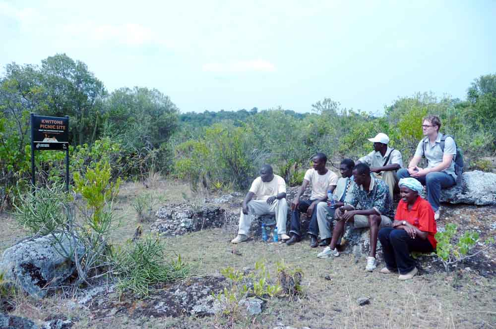 TARA Team at Kwitone Picnic Site, Trust for African Rock Art