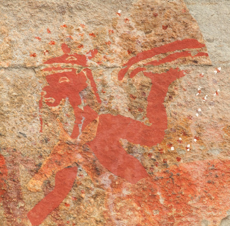 South African rock art depicting bees and honey