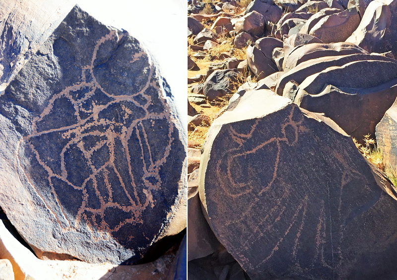 Rock art Morocco-Zerzem