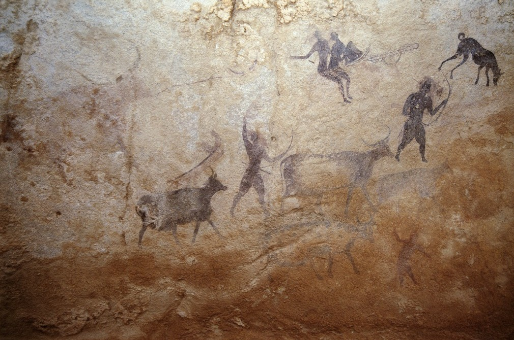 cattle in african rock art