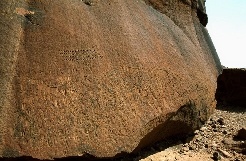 footprints African rock art