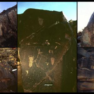 footprints African rock art