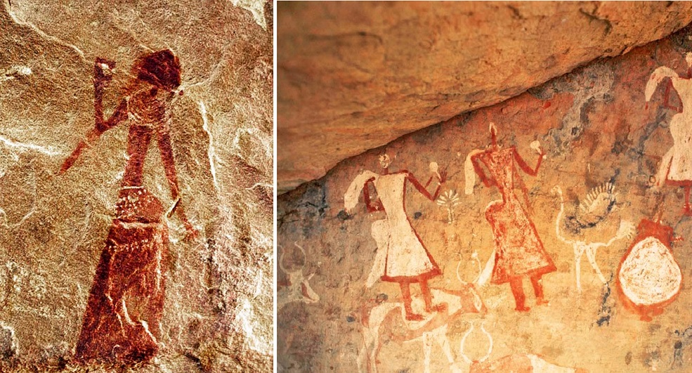 dressing African rock art