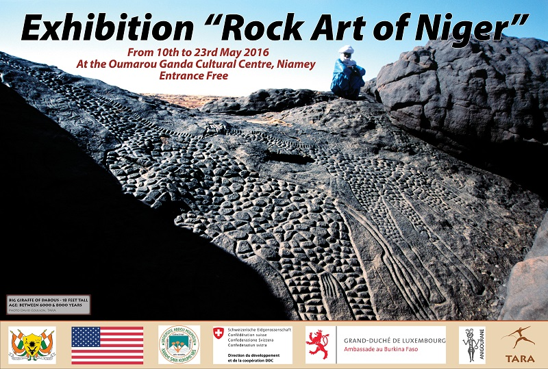 rock art exhibition Niger