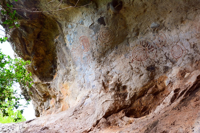 filming rock art