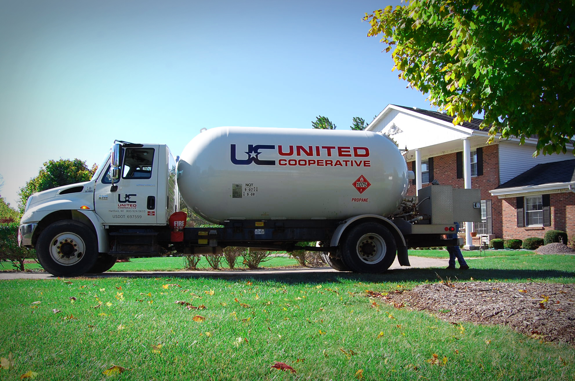 United Cooperative Propane Delivery Truck