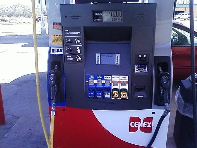 New C-Store pumps on Hwy 30