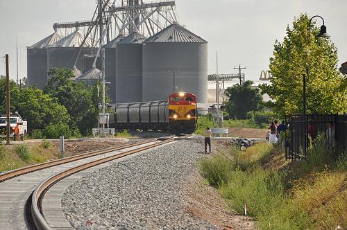 Kansas City 1st Grain Train thru Wharton 2009