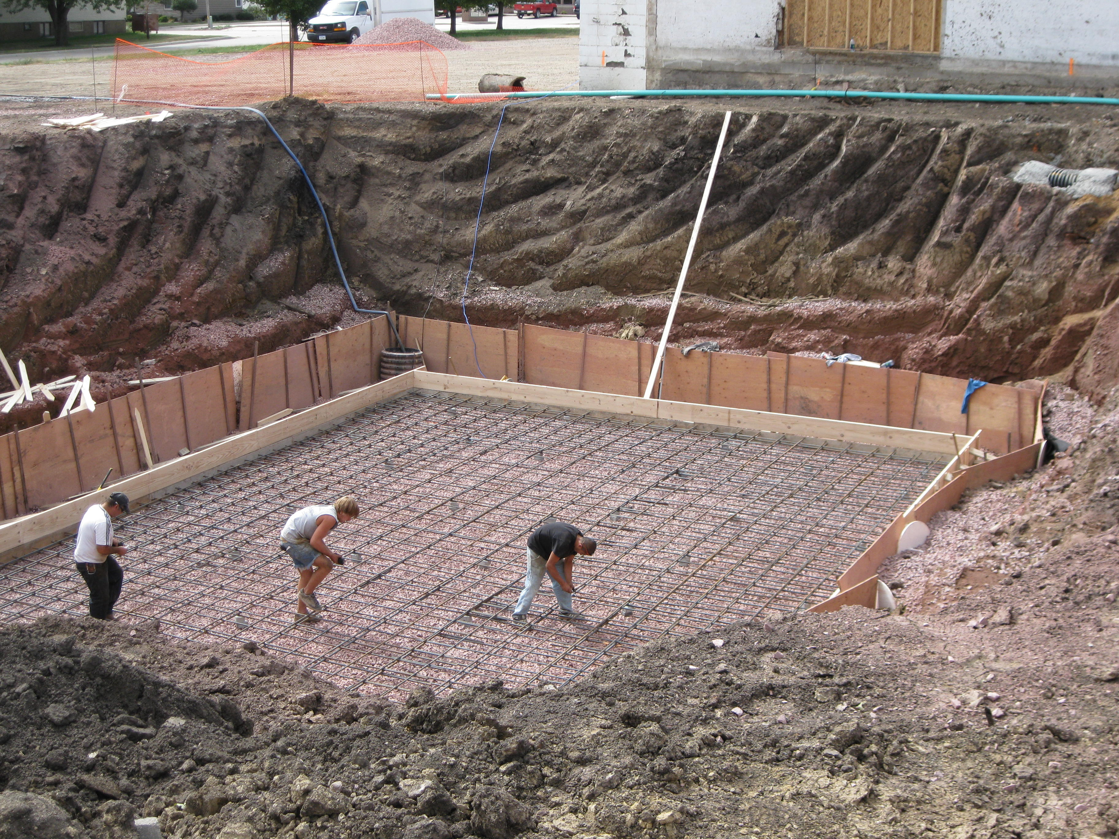 september 14 crews began digging the basement for the new feedmill