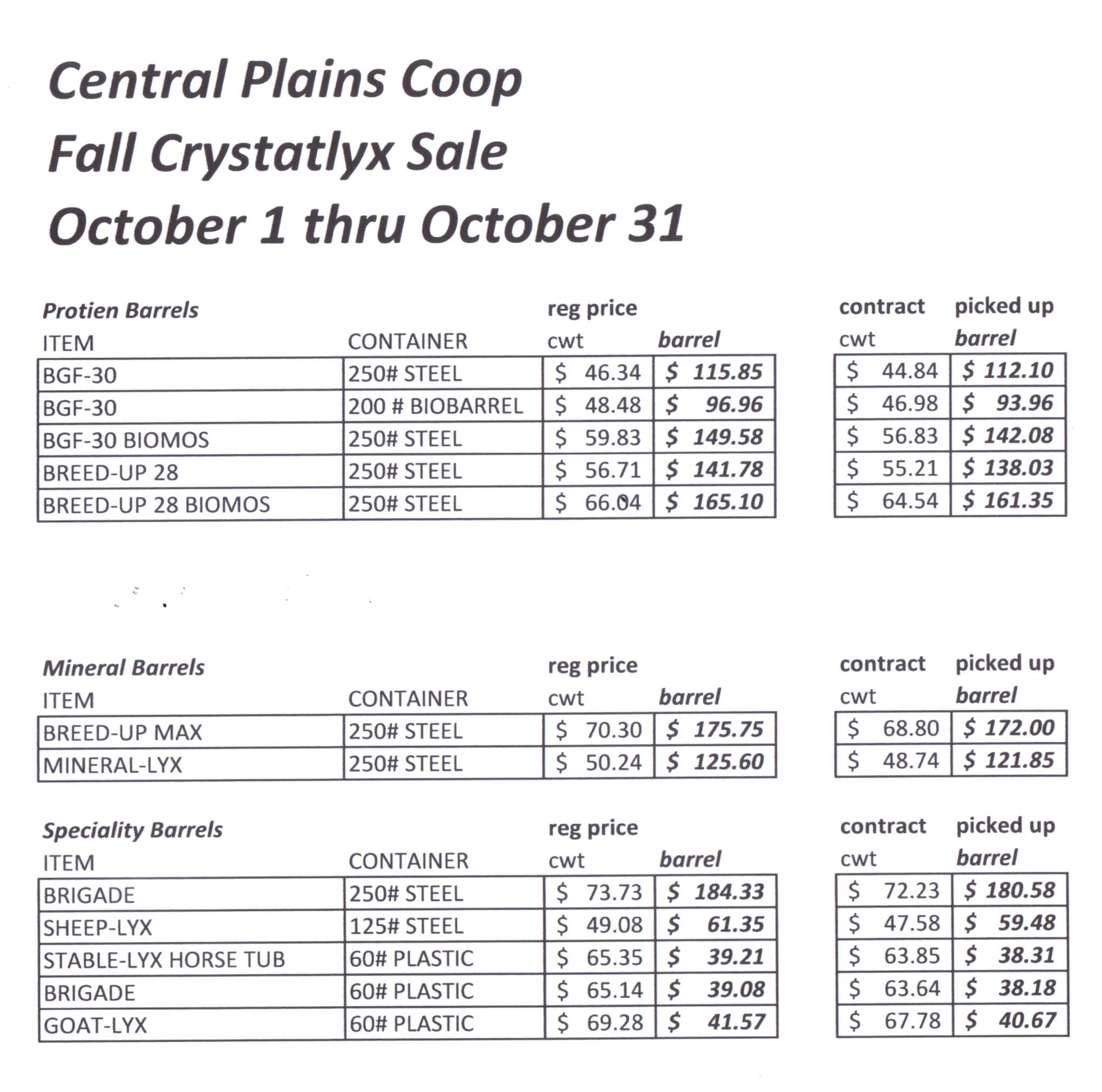 Central Plains Coop - Departments: Feed & Things