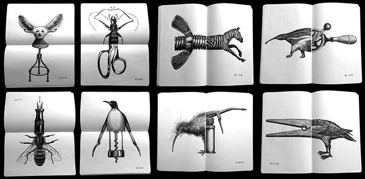 AI-AP | DART » Craig Frazier's Sketchbooks  |Unlikely Objects