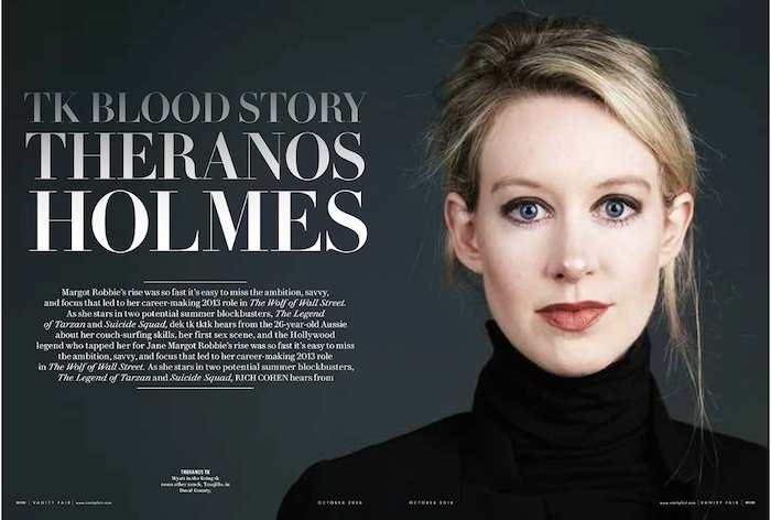 Trending: Behind the Scenes with Theranos Fraudster Elizabeth Holmes