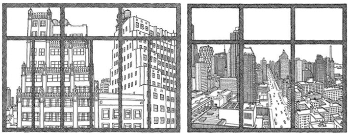 window view drawing. citywindow_2uplow.jpg window view drawing l
