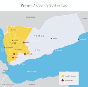 As things stand today, Yemen is split into two fractions, one being controlled by the Houthi rebels and the other by the government, led by President Abedrabbo Mansour Hadi. (InfoTimes)
