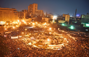 Tahrir Square, Cairo, 2011 (Wikimedia Commons)