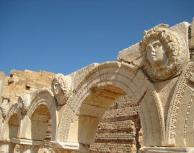 Roman forum at Leptis Magna, Libya (photo: Sasha Coachman, Creative Commons)