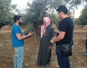 Université Saint-Joseph students interviewing Syrian refugees in Lebanon in 2015 (Photo: USJ).