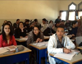 A classroom in Morocco (Photo: Moroccan Association of Teachers of English).
