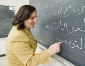 Workshop on Arabic teaching at Michigan State University. (Photo:MSU)