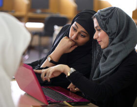 Female students attend class at Effat University in Jeddah, Saudi Arabia (Photo: Effat University).