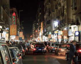 Traffic clogs the streets of Cairo (Photo: Ben Snooks).