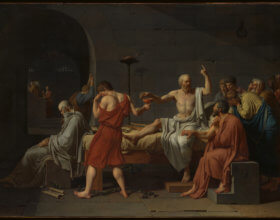 Jacques-Louis David, The Death of Socrates, 1787 (Photo: Wikimedia Commons)