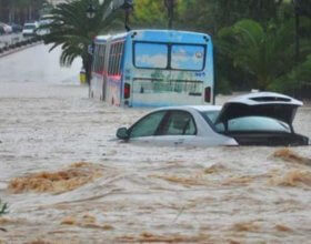 Heavy rain causes summer flooding in Tunisia. (Photo: Facebook pages)