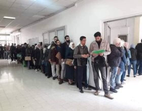 Syrian students during registration for advanced degrees at law faculty, Damascus University. (Photo: Fadi Bek Alsharef, Alwatanonline)