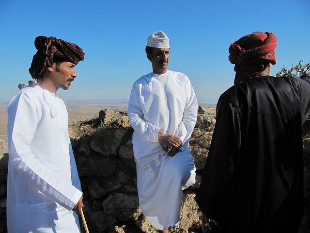 Shahri-speaking men in Dhofar, Oman in 2013 (Photo: Janet Watson).