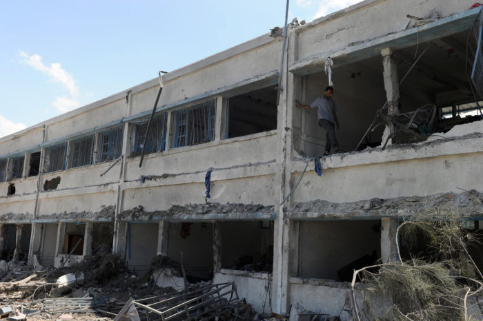 A damaged building in Gaza after Israeli airstrikes in 2013 (Photo: United Nations).