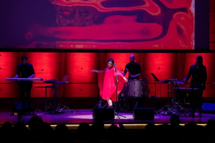 Emel Mathlouthi performed in Paris this summer in a concert following the Unesco-Sharjah Prize for Arab Culture awards ceremony.