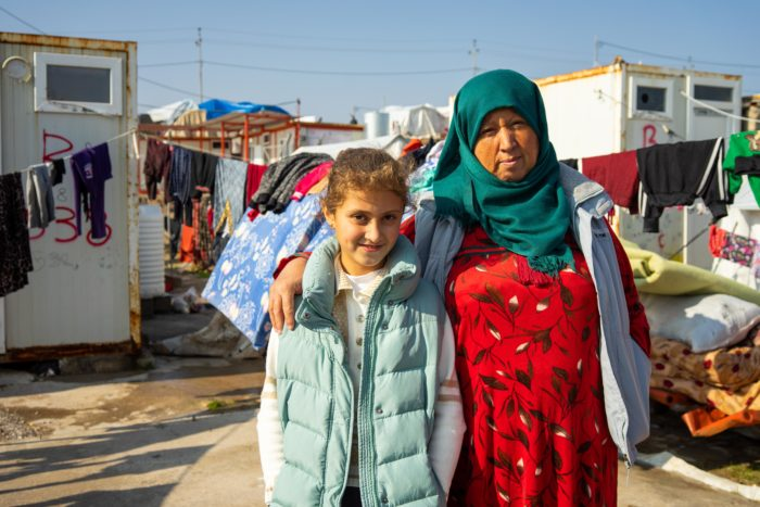 "Nour, 10, and her mother, Fryal Muhammad, fled the violence in northeastern Syria. ""Now we're here and her future is not guaranteed,"" Muhammad said (Photo: Olivia Cuthbert)."