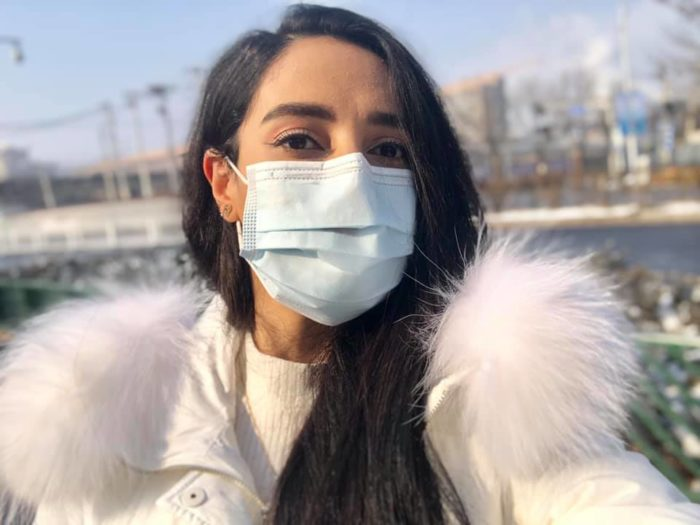 Basma Mostafa, 29, an Egyptian student, refuses to leave Wuhan, saying she doesn't want to carry the coronavirus back home (Photo:Basma Mostafa).