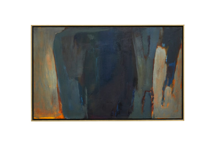 Saliba Douaihy, Untitled (Grotto in Lebanon), 1963, Oil on canvas, 26 x 42 in. (66.3 x 106.9 cm) (Photo:Barjeel Art Foundation).