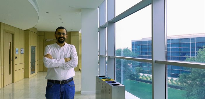 Kareem Darwish, a senior scientist at the Arabic Language Technologies Group at Qatar Computing Research Institute, wants to help increase the amount of quality Arabic content available on the Internet (Photo: Eman Kamel).