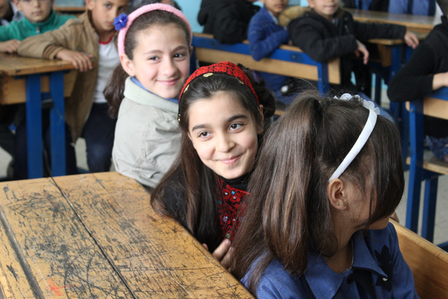 Students at an UNRWA school in the Palestinian refugee camp of Baqa'a, Jordan (Photo: UNRWA).