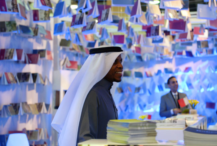 Publishers still hope the big fall book fairs—Amman, Algiers, Kuwait, Jeddah—will go forward as planned. Above, a visitor at the Cairo International Book Fair in 2016 (Photo: Natalia Seliverstova/Sputnik via AP).