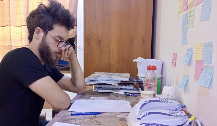 "Othman Abdulnassir, a student at the University of Mosul, says ""The vast majority of graduates in recent years haven't done anything with their degrees."" (Photo: Abdulla Thaier)"