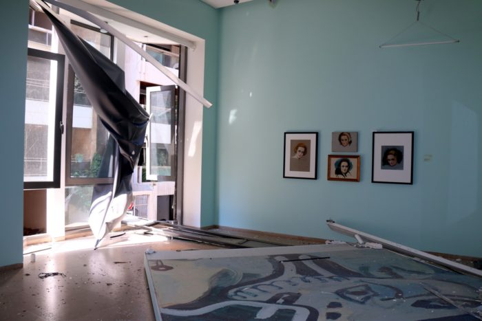 A damaged gallery at the Sursock Museum (Photo: Rowina Bou-Harb/Sursock Museum).