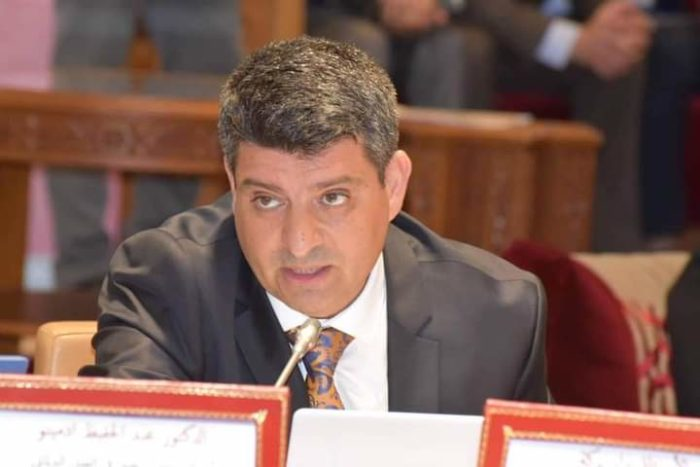Abdelhafid Adminou, head of the Department of Public Law at the Faculty of Law at the University of Mohammed V in Rabat participating in public discussions on creating a competitive educational system in higher education (Photo: courtesy of Abdelhafid Adminou).