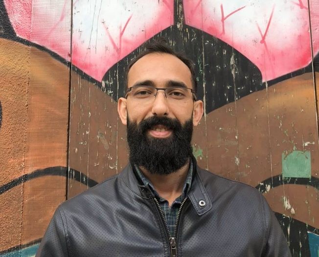 """Mohamad Karaf, 36, is grateful for the financial aid that's allowing him to retrain as a  youth caregiver: """"To have such opportunity to start at this age in any field—we didn't see such support anywhere else"""" (Photo: Courtesy Mohamad Karaf)."""