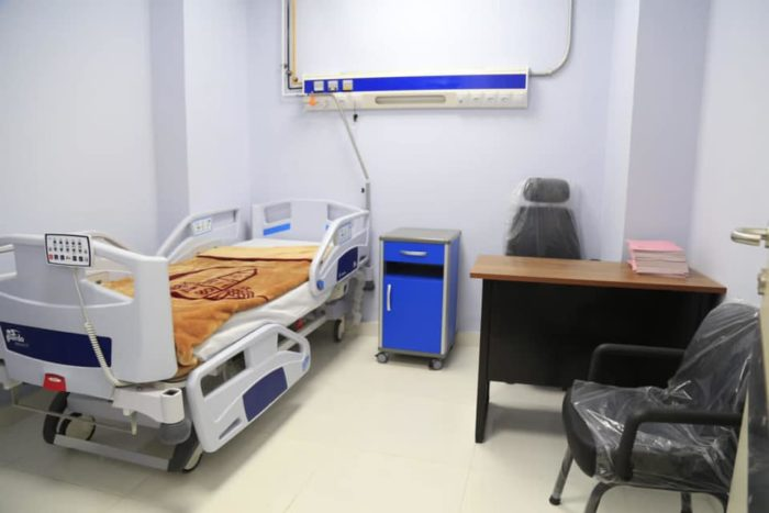 A patient's room in the new unit at Ain Shams University (Photo: National Council for Women's Facebook  page).